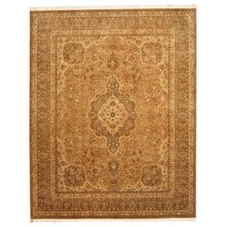 Herat Oriental Indo Hand-knotted Tabriz Wool Rug (8'2 x 10'2)