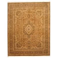Handmade Herat Oriental Indo Tabriz Wool Rug (India) - 8'2 x 10'2
