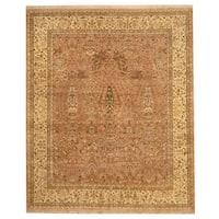 Handmade Herat Oriental Indo Nain Wool Rug  - 8' x 9'7 (India)