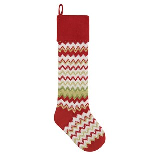 Red Zig Zag Kint Christmas Stocking