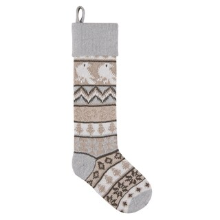 Bird Knit Stocking