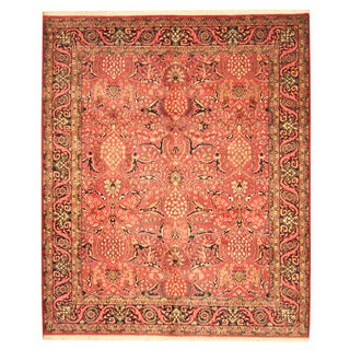 Herat Oriental Indo Hand-knotted Bidjar Red/ Navy Wool Rug (7'10 x 9'5)