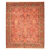 Handmade Herat Oriental Indo Bidjar Wool Rug - 7'10 x 9'5 (India)