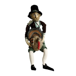 Myles Pilgrim Joe Spencer Gathered Traditions Art Doll - brown
