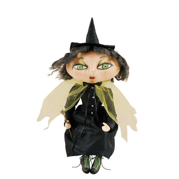 Xanzabelle Witch Joe Spencer Gathered Traditions Art Doll - Black