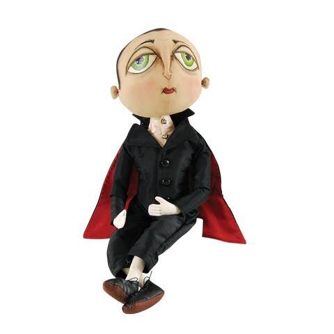 Norbert Vampire Joe Spencer Gathered Traditions Art Doll - Black - 18.11 x 6.69 x 3.15