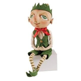 Bartholomew Elf Joe Spencer Gathered Traditions Art Doll - Green