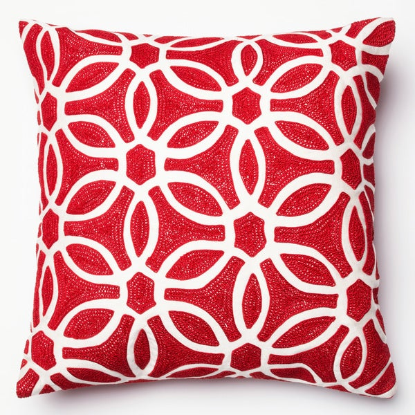 07cd12ccac Shop Embroidered Geometric Circle 18-inch Throw Pillow or Pillow ...