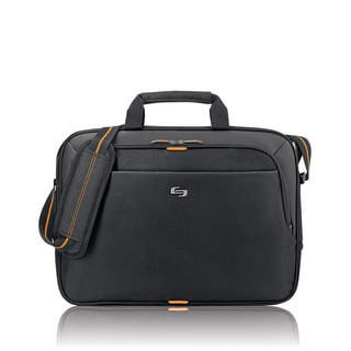 Solo Urban Black Slim 15.6-inch Laptop Briefcase