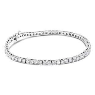 14k White Gold 4ct TDW Round-cut Diamond Tennis Bracelet (H-I, SI2-I1)