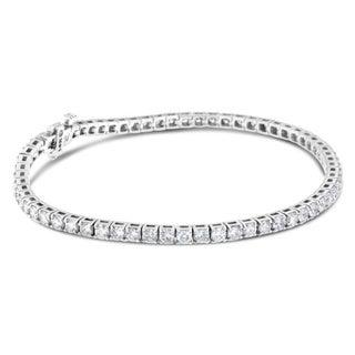 14k White Gold 5ct TDW Round Diamond Tennis Bracelet (H-I, SI2-I1)