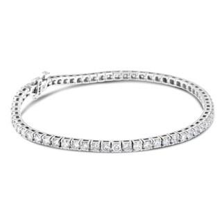14k White Gold 7ct TDW Round-cut Tennis Diamond Bracelet (H-I, SI2-I1)