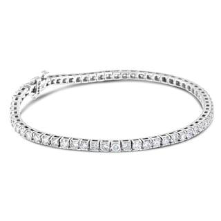 14k White Gold 8ct TDW Round-cut Tennis Diamond Bracelet (H-I, SI2-I1)