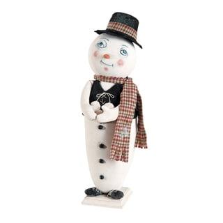 """Milton"" Standing Snowman Figure"