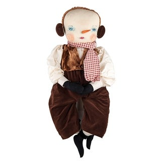 Sherwood SnowmanJoe Spencer Gathered Traditions Art Doll - brown