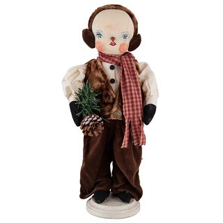 Forrest Snowman Joe Spencer Gathered Traditions Art Doll - brown
