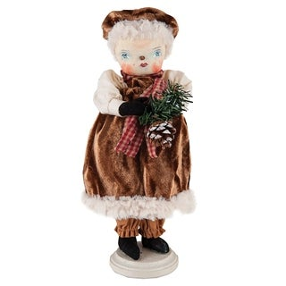 Fannie Snow Woman Joe Spencer Gathered Traditions Art Doll - brown