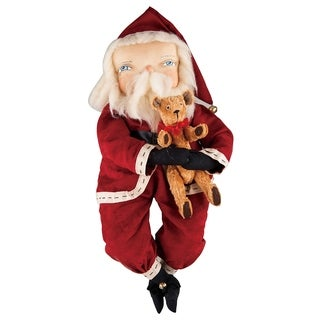 Freddy Santa Joe Spencer Gathered Traditions Art Doll - Red
