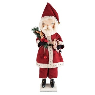 Sedrick Santa Joe Spencer Gathered Traditions Art Doll - Red