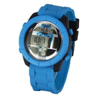 Steve Aoki Round Face Black Digital Watch