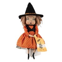 Felicity Witch Girl Joe Spencer Gathered Traditions Art Doll - Orange