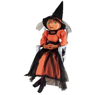 """Isadora"" Pumpkin Witch Figure"