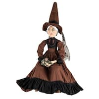 Myrtle Witch & Frog Prince Joe Spencer Gathered Traditions Art Doll - brown