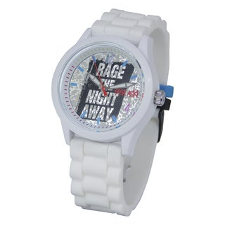 Steve Aoki Round Face Blue Quartz Analog Watch