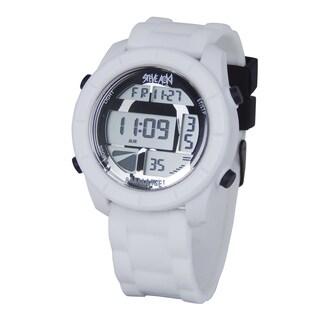 Steve Aoki Round Face White Digital Watch
