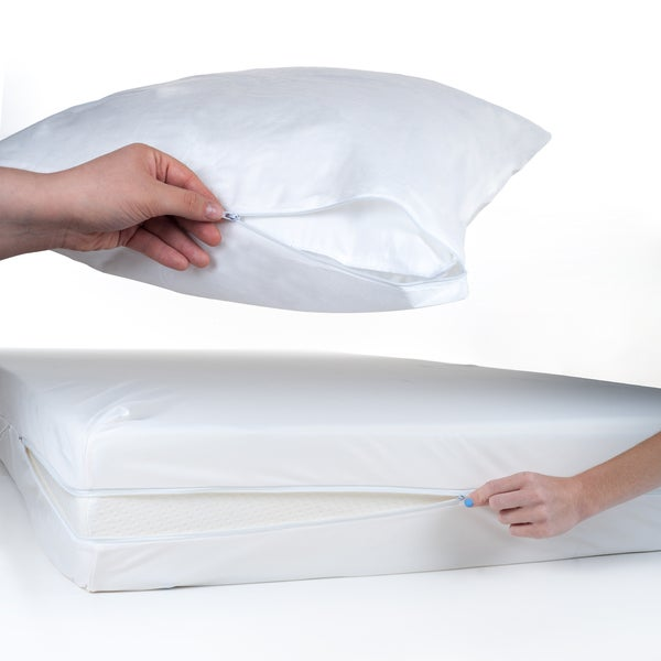 Windsor Home Twin/ Twin XL Bed Bug And Dust Mite Mattress And Pillow  Protector Set