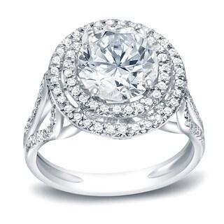 Auriya 1 3 4ctw Round Halo Diamond Engagement Ring 14k Gold