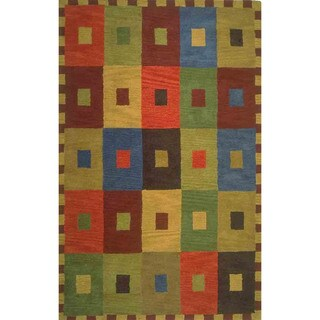 Concentric Squares Indoor Rug (9' x 12') - 9' x 12'
