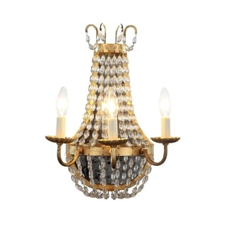 Roma Collection 1433 Wall Sconce with Golden Iron Finish