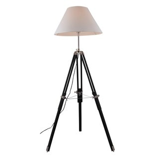 Elegant Lighting Ansel Tripod Floor Lamp with Chrome and Black Finish
