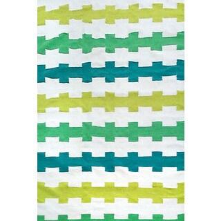 Fence Stripe Outdoor Rug (2' x 3')