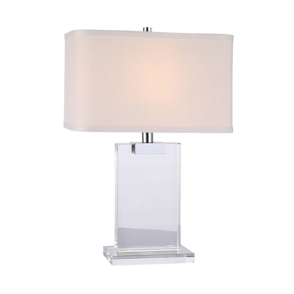 Elegant Lighting Regina Collection TL1009 Table Lamp with Chrome Finish