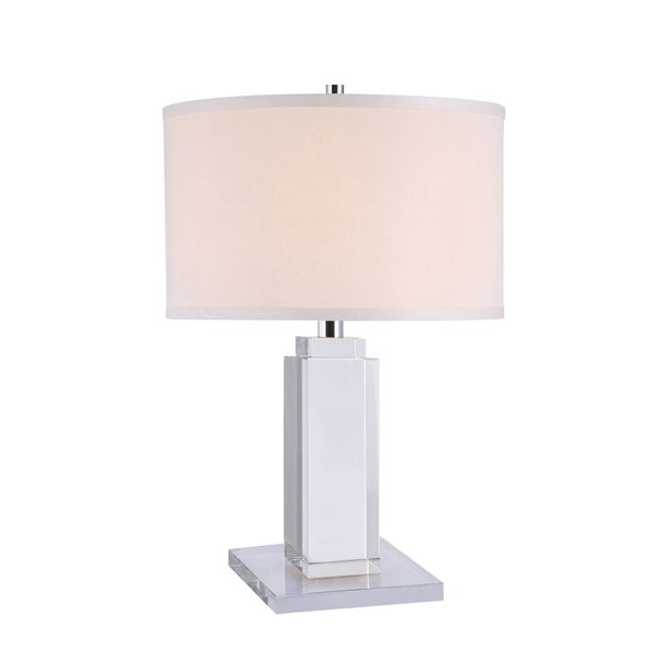 Elegant Lighting Regina Collection TL1012 Table Lamp with Chrome Finish