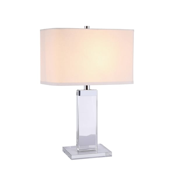 Elegant Lighting Regina Collection TL1013 Table Lamp with Chrome Finish