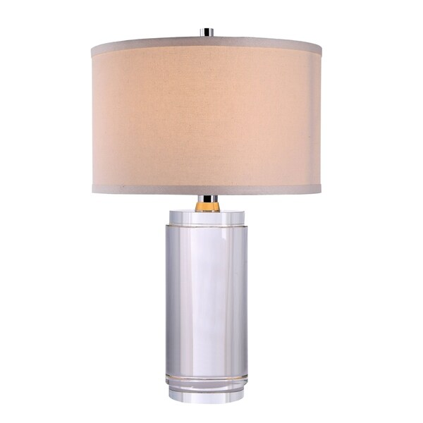 Elegant Lighting Regina Collection TL1016 Table Lamp with Chrome Finish