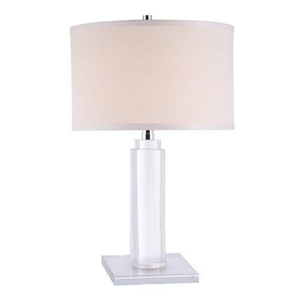 Elegant Lighting Regina Collection TL1017 Table Lamp with Chrome Finish