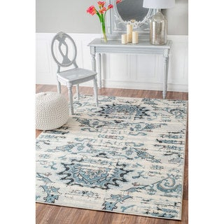 nuLOOM Vintage Adileh Reflection Cream Rug (8' x 10')