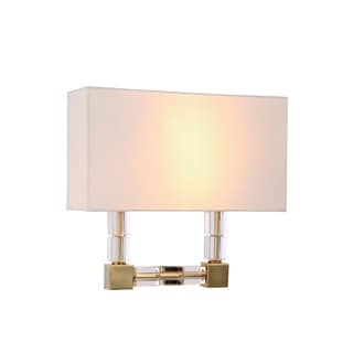 Elegant Lighting Cristal Collection 1461 Wall Sconce with Burnished Brass Finish