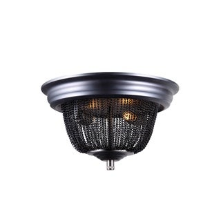 Elegant Lighting Paloma Collection 1210 Flush Mount with Dark Grey Finish