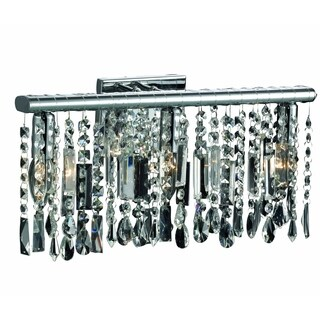 Somette Bienne Royal Cut Crystal and Chrome 3-Light Wall Sconce