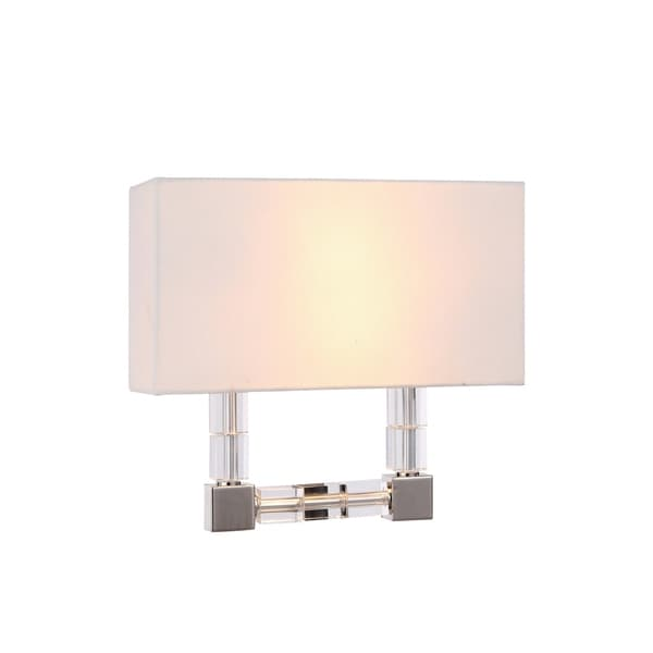 Elegant Lighting Cristal Collection 1461 Wall Sconce with Polished Nickel Finish. Opens flyout.