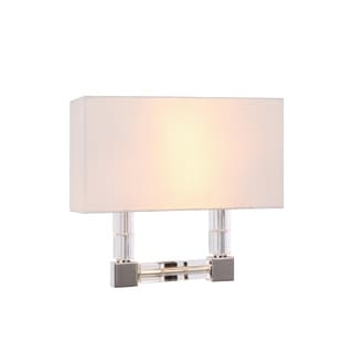 Elegant Lighting Cristal Collection 1461 Wall Sconce with Polished Nickel Finish