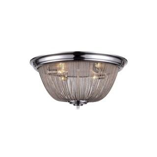 Elegant Lighting Paloma Collection 1210 Flush Mount with Pewter Finish