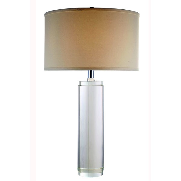 Elegant Lighting Regina Collection TL1002 Round Table Lamp with Chrome Finish