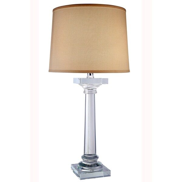 Elegant Lighting Regina Collection TL1005 Table Lamp with Chrome Finish