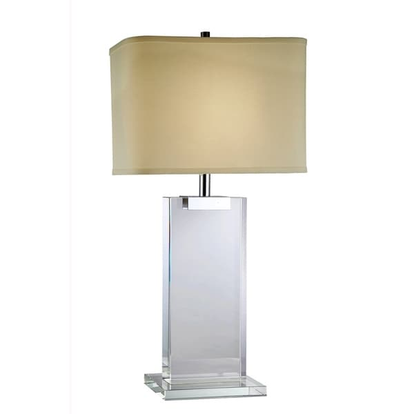 Elegant Lighting Regina Collection TL1001 Table Lamp with Chrome Finish